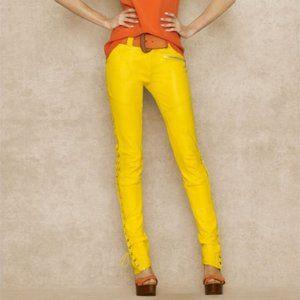 "Ralph Lauren ""Blue Label"" Side-Laced Leather Pants"